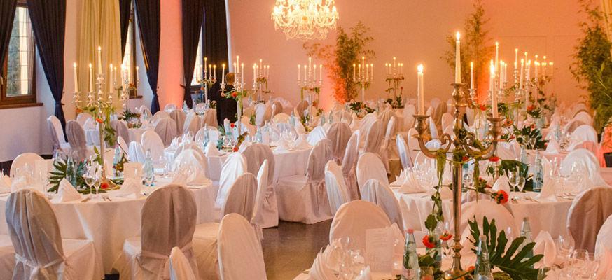 Beispiel: Gartensaal - Hochzeitsbankett, Foto: Orangerie.