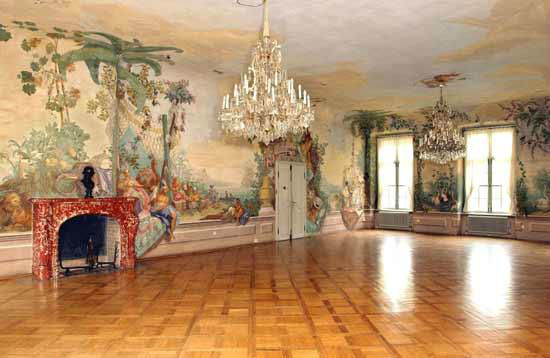 Beispiel: Freskensaal, Foto: Bundeskanzleramt - Schloss Laudon.