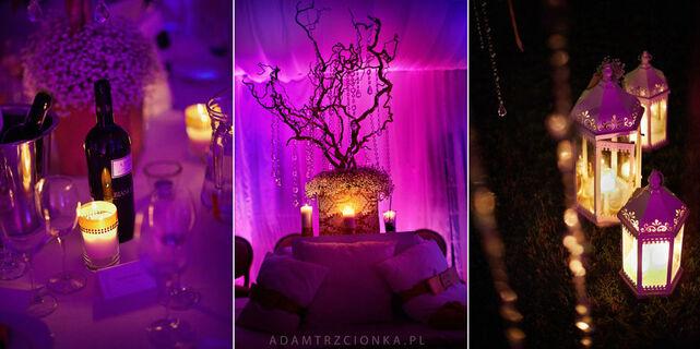 Oświetlenie, dekoracje - każdy detal składa się na całość...piękna, niepowtarzalną.