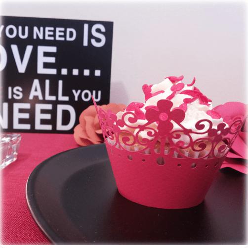 Envoltorio para cupcakes modelo Floral