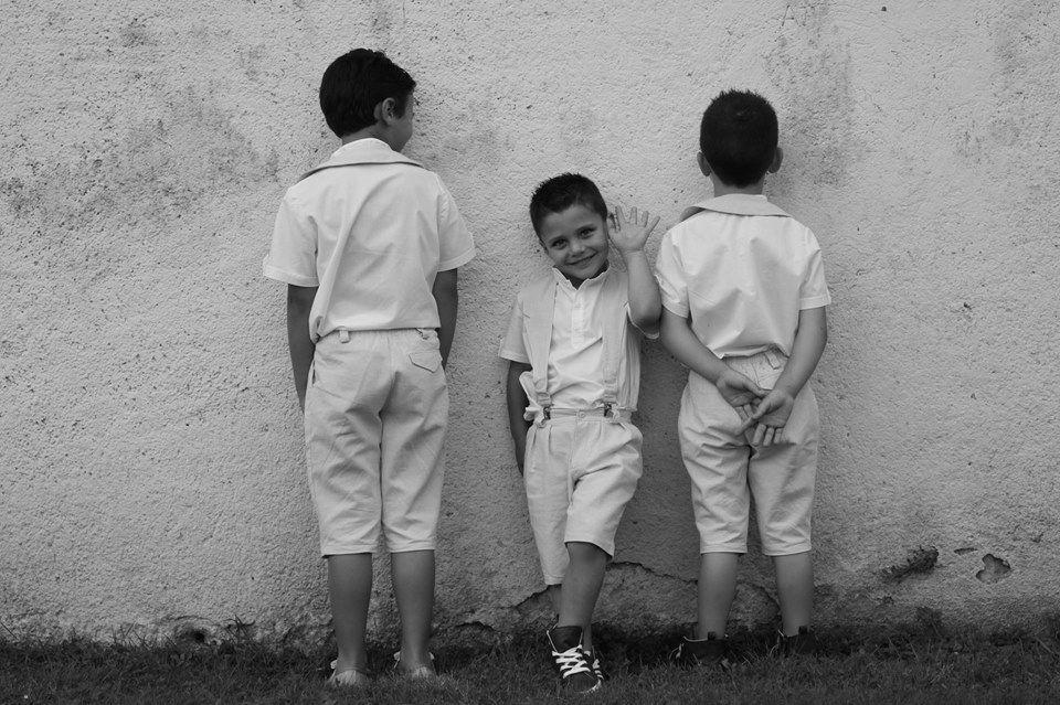 bretelles Rafaël, bermuda Paulo & tunique Enzo