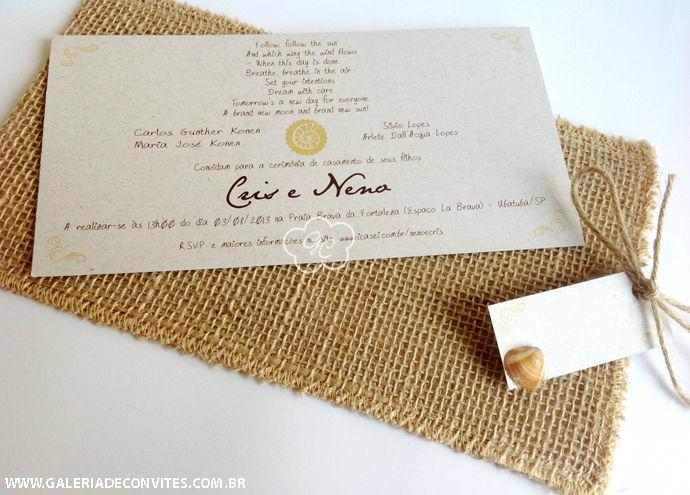 convite de casamento modelo CN