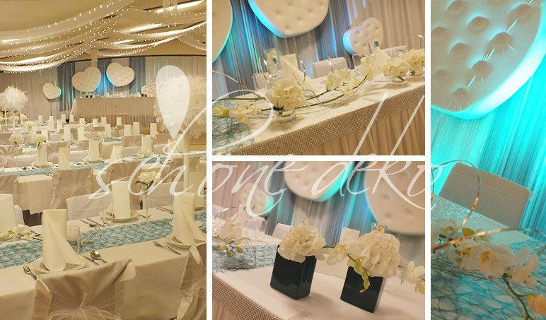 Beispiel: Individualität mit einer einzigartigen Hochzeitsdekoration, Foto: Schöne Deko.