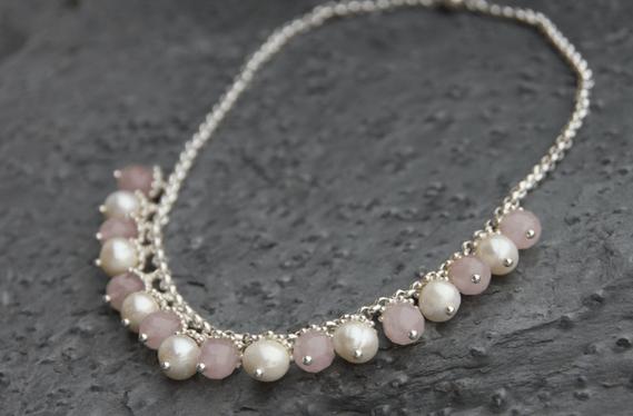 Perlenkette Rosaria von perlaprincipessa