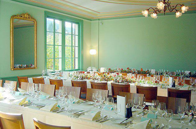 Beispiel: Hochzeitstafel, Foto: Gasthof Hirschen.