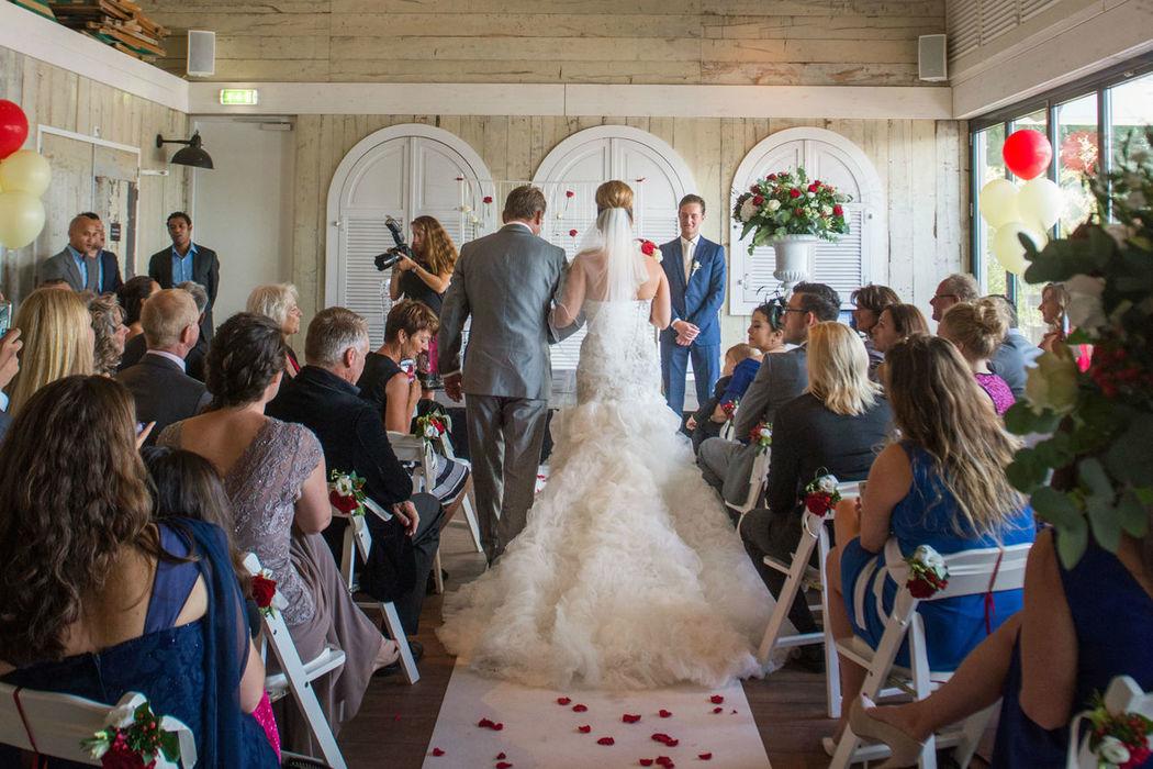 Papa's Beach House, officiële trouwlocatie, huwelijksceremonie