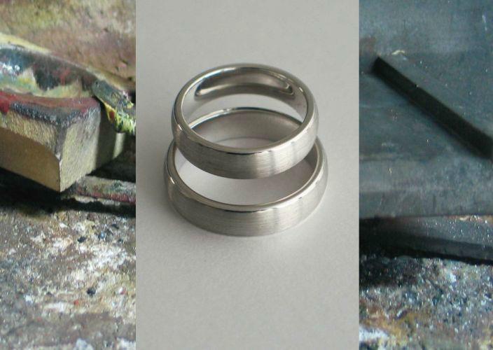 Beispiel: Trauringe - Silber, Foto: Juwelier Jaufman.