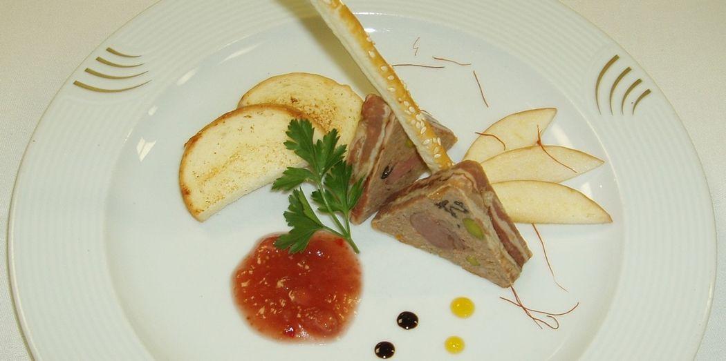 Beispiel: Kulinarische Impressionen Hochzeitsdiner, Foto: Hotel Restaurant Vogelsang.