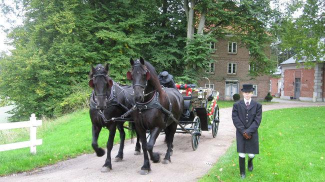 Beispiel: Eine romantische Traumhochzeit mit Kutsche, Foto: Hochzeitskutschen-Mieten.de.