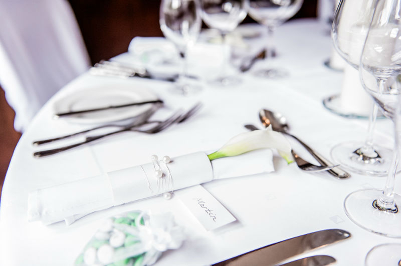 Beispiel: Verleih von Tischwäsche und Servietten, Foto: Hussen und mehr...