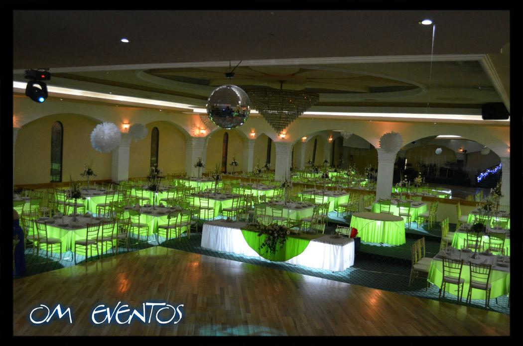Salón Mirage  Iluminación de Mesas