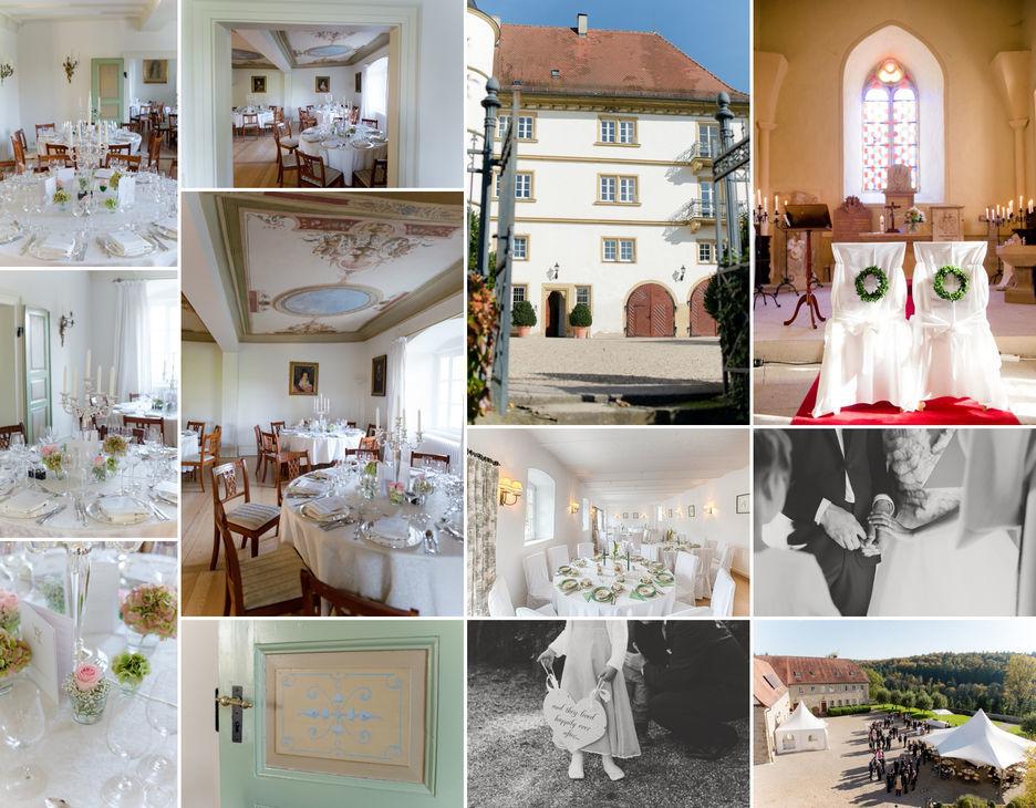 Beispiel: Collage-Räumlichkeiten, Foto: Schloss Neuhaus.