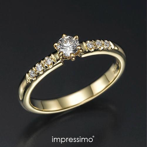 Pierścionek Impressimo - kolekcja Expletus. Złoto + brylanty.