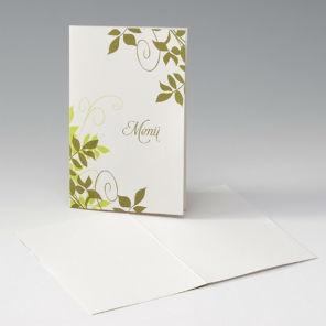 Beispiel: Ihre individuellen Menükarten, Foto: Sweet Wedding Hochzeitskarten.