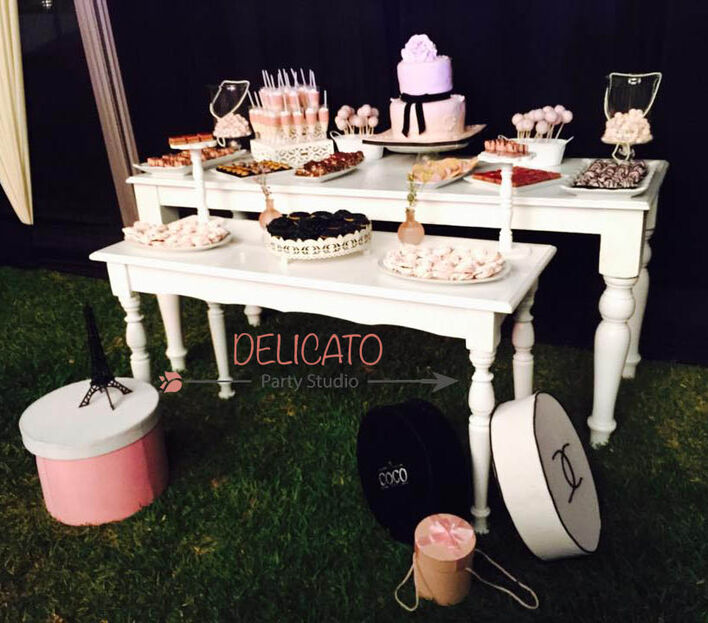 Mesa de dulces principal