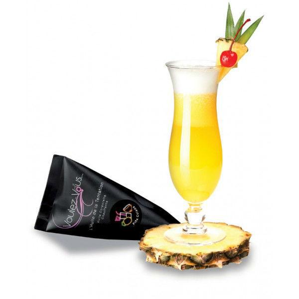 L'huile de massage chauffante Pina Colada relaxera la mariée avant le jour J ou pendant la nuit de noces ou la lune de miel!