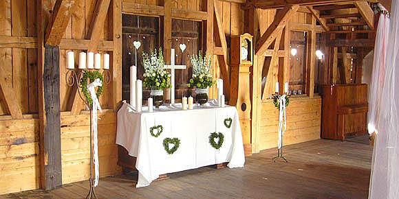 Beispiel: Perfekte Hochzeitslocation, Foto: Künkele Mühle.