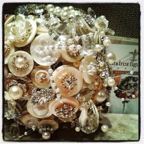 Buquê de botões - Atelier Andrea Figueiredo