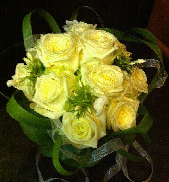 Beispiel: Gelbe Rosen im Brautstrauß, Foto: Blumentruhe.