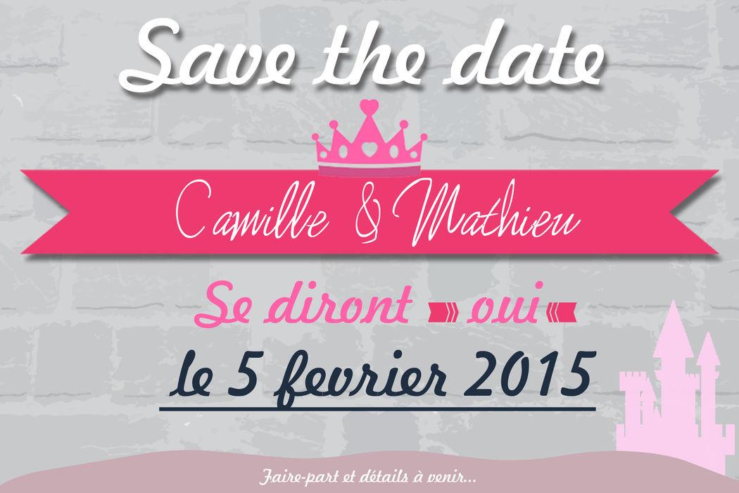 Save The Date princesse