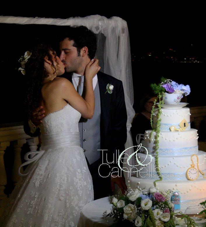 Matrimonio Sorrento - Wedding Cake tema Alice in Wonderland