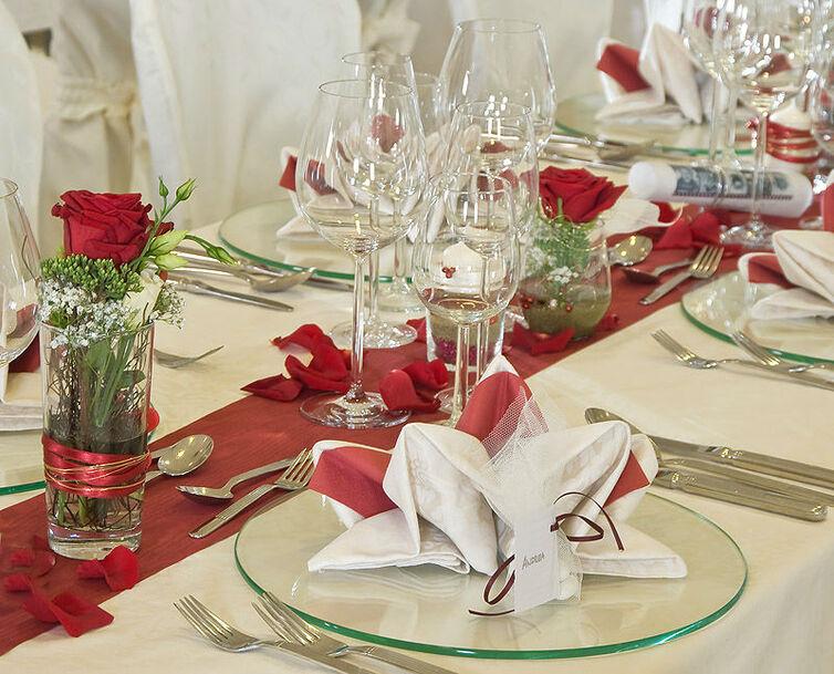 Beispiel: Hochzeitsdekoration, Foto: Reschenhof.