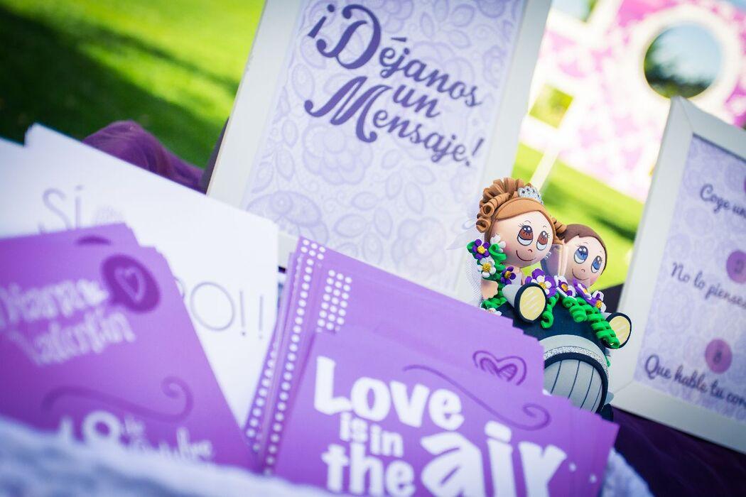 We Are. - Wedding planner. Detalle de mesa de firma. Diseño y Organización de boda.