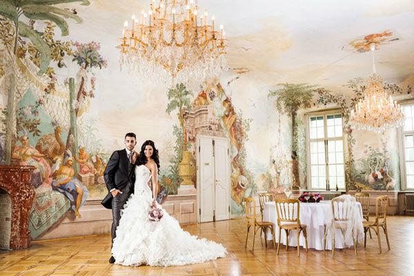 Beispiel: Traumhochzeit im Schloss, Foto: Bundeskanzleramt - Schloss Laudon.