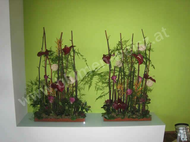 Beispiel: Saaldekoration, Foto: Blumen Weisz.