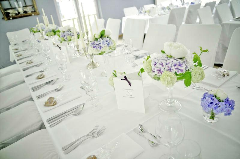 Beispiel: Hochzeitsdekoration, Foto: Chiemgauhof.