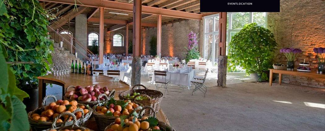 Beispiel: Hochzeitsdekoration für eine rustikale Feier, Foto: Gutshof Ladenburg.