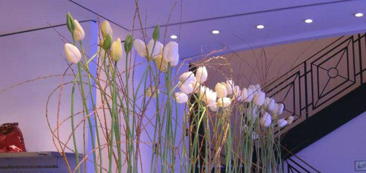 Beispiel: Floristik für Ihre Hochzeitsfeier, Foto: Blumenbinder Trittmacher.