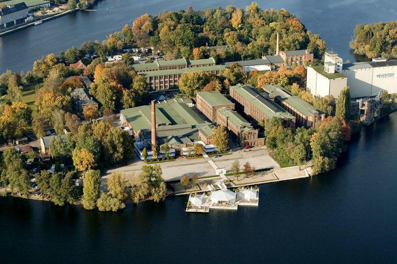 Beispiel: Die Insel aus der Luft, Foto: Event Island.