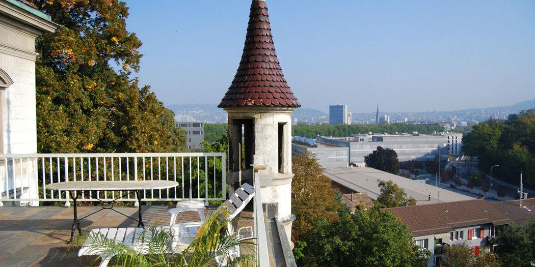 Beispiel: Ausblick von der Terrasse, Foto: Schloss Sihlberg.