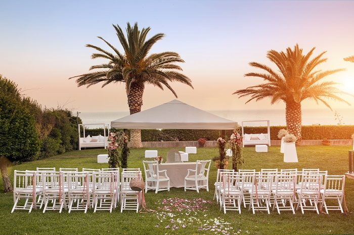 Sunset Wedding Ceremony in the Sea View Garden