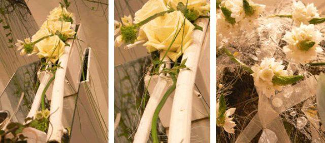 Beispiel: Hochzeitsdekoration in weiß, Foto: Hadrigan Blumen Ambiente.