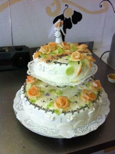Beispiel: Hochzeitstorten, Foto: monas-torten-art.ch.