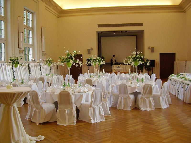 Beispiel: Hochzeitsbankett, Foto: Logenhaus.