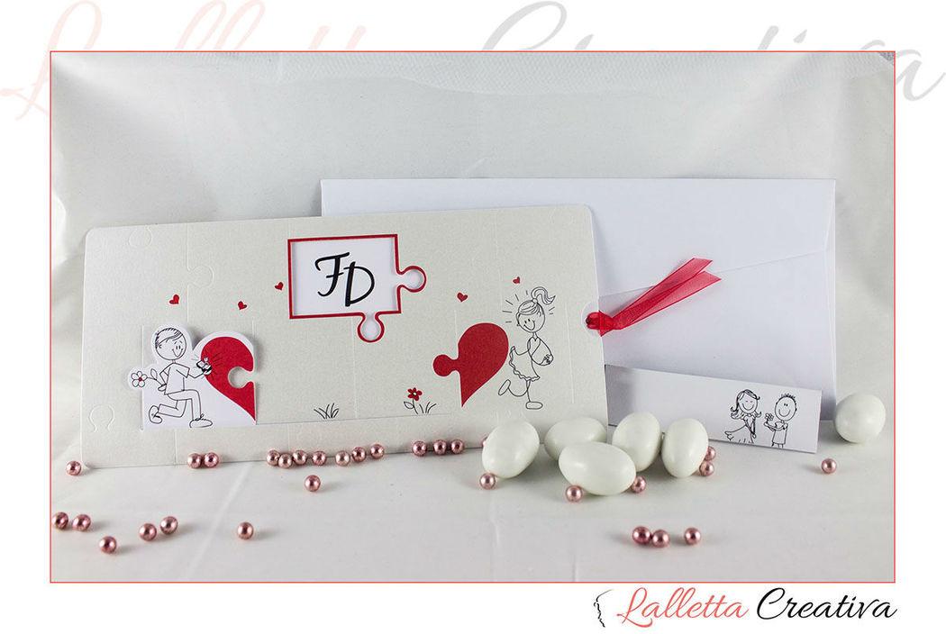 Partecipazione nozze puzzle