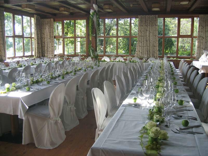Beispiel: Hochzeitstafel, Foto: Restaurant Landgasthof Bogner.