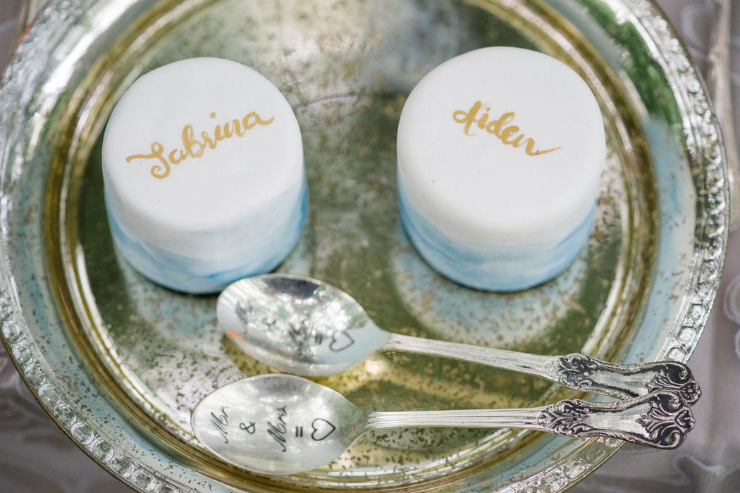 Mini Cakes für das Brautpaar