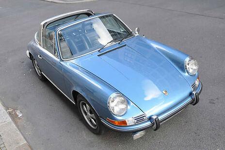 Beispiel: Ihr Hochzeitsauto - ein Porsche Targa, Foto: Hamburger Oldtimer Verleih.
