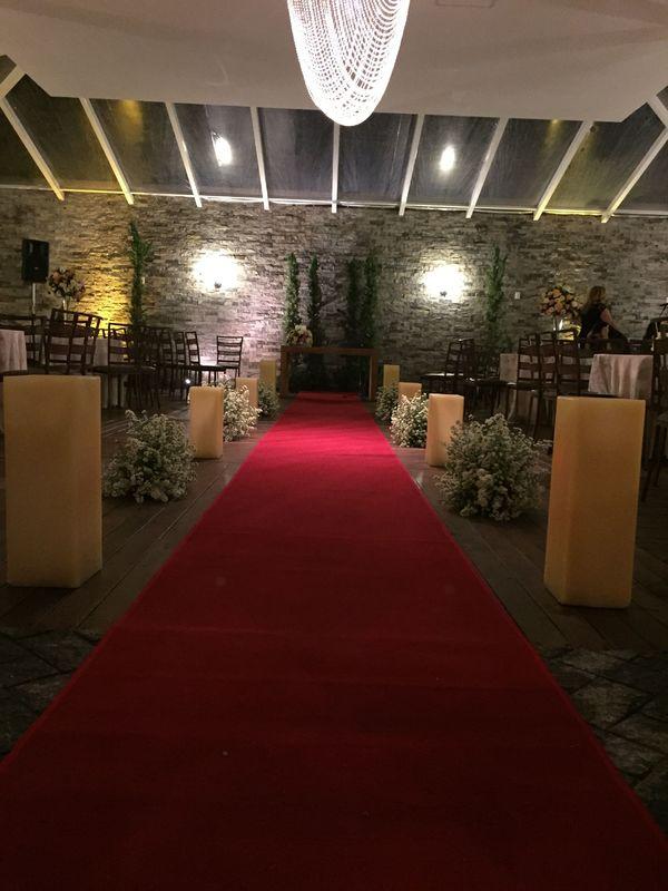 Local bonito e aconchegante para realização de cerimonia e recepção.