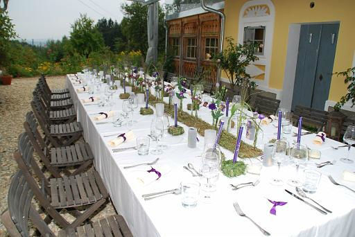 Beispiel: Hochzeitsmenü im Freien, Foto: Die Träumerei.