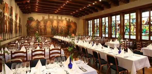Beispiel: Bannersaal, Foto: Wirtschaft zum Schützenhaus.