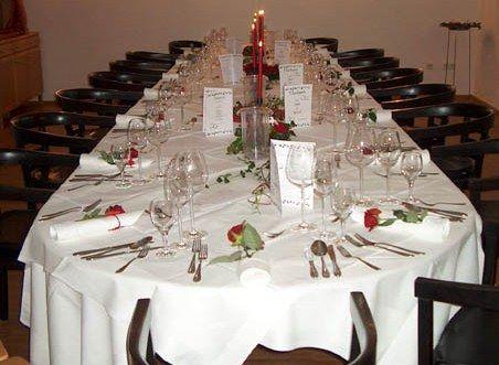 Beispiel: Hochzeitstafel, Foto: Schlosshotel Rockenhausen.
