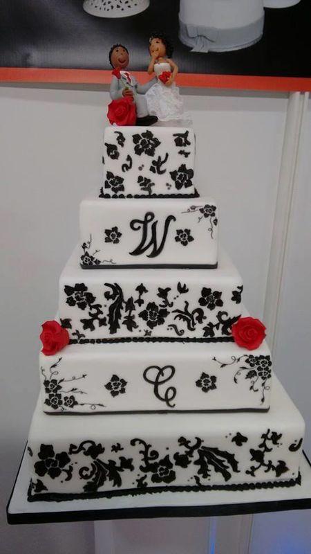wedding cake peint à la main livre