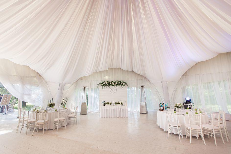 Оформление шатра на свадьбе Димы и Киры в стиле