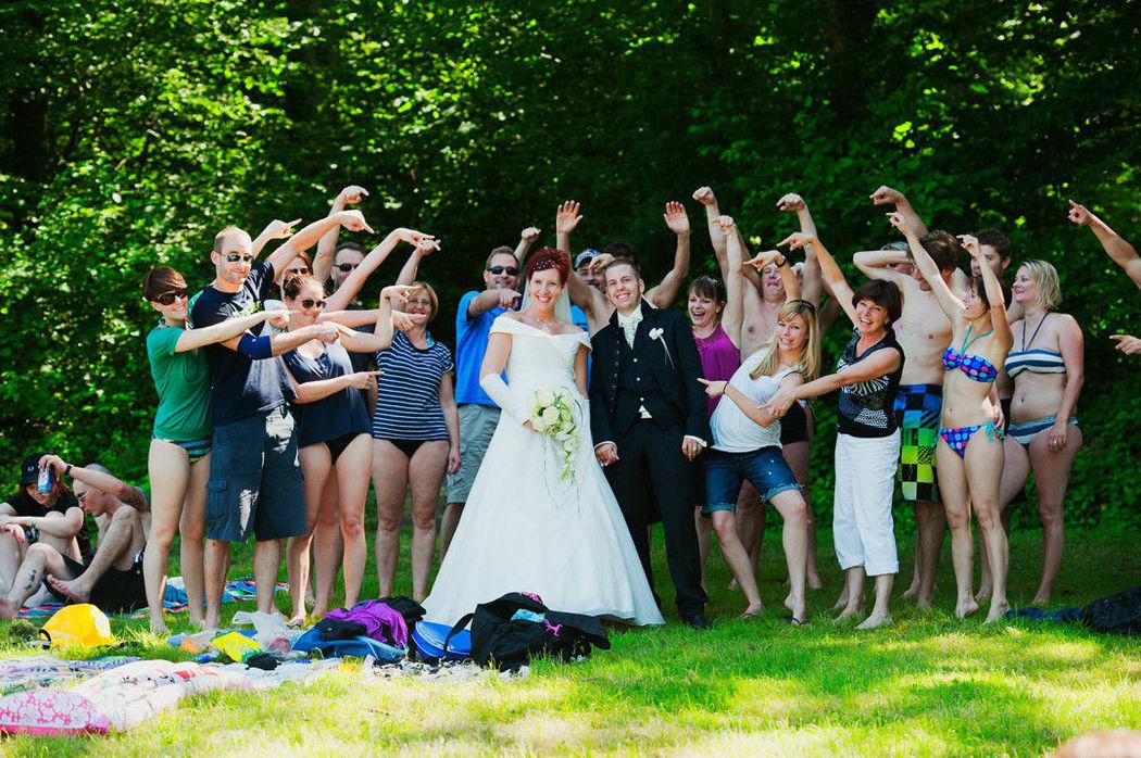 Beispiel: Innovative Gruppenfotos, Foto: Weddingpix.