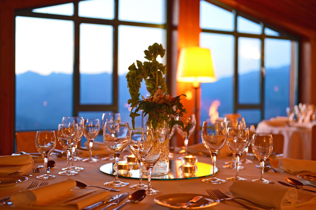 Banquete com vista
